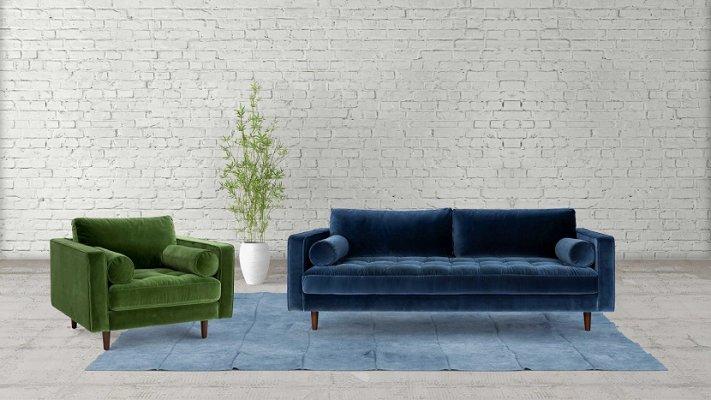 Meşk Wooden Leg Sofa