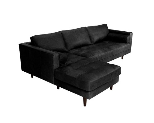 Meşk Corner Wooden Leg Sofa