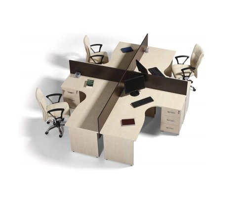 Micro Multiple Working Table With Caisson