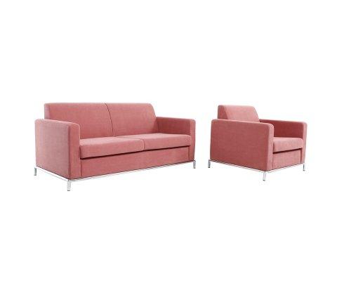 Novita Chrome Leg Sofa