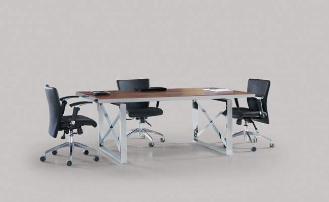 Unix Chrome Leg Meeting Table