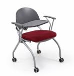 Desire Krom Ayak Krom Kolçak Pls. Yazı Sehpalı 4 Tekerlekli Sandalye