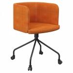 Artu Boyalı Boru Ayaklı Tekerli Dörtlü Sandalye