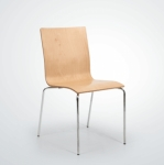 Rabbit Krom Ayak Kolçaksız Sandalye (mod 1)