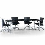 Uno 190´lık Kromaj Ayaklı Cam Toplantı Masası