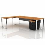 Pi Desk Yan Tablalı Melamin Vip Yönetici Masası