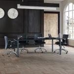Uno 190´lık Boyalı Ayaklı Cam Toplantı Masası